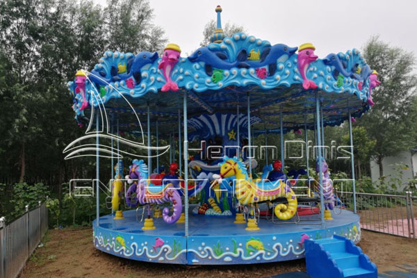 Buy Ocean Carousel Horse Amusement Rides for Sale at Low Costs
