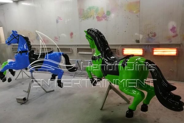 Low Costs of Building A Small Merry Go Round Park Ride Manufactured by Dinis Plant