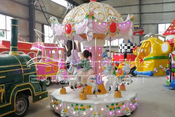 Mini Kids Coin Operated Park Carousel for Sale for Backyards, Stores, Indoor Shopping Malls, Supermarkets, Playgrounds, Fairgrounds, etc.
