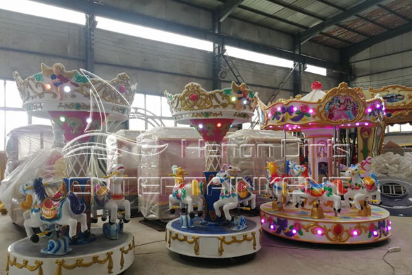 Popular Theme Park Mini Fairground Carousel Sale for Carnivals Produced by Dinis