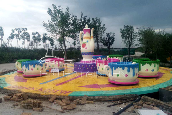 Amusement Park Teacup Fairground Rides Displayed