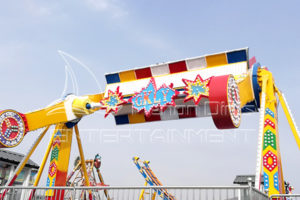 Amusement Park Top Spin Thrill Rides for Sale That Can Hold Many People