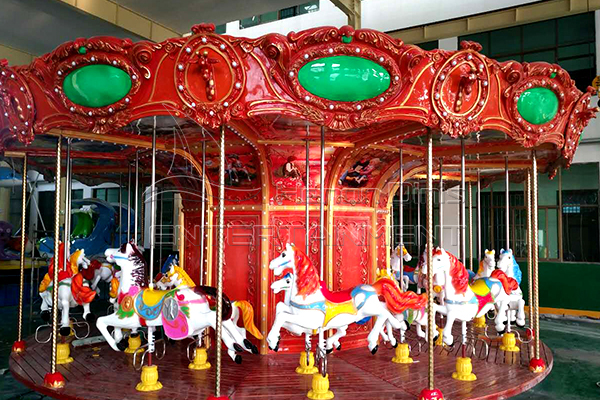 Amusement Park Vintage Kids Carousel Animal Rides for Sale Manufactured by Dinis Plant
