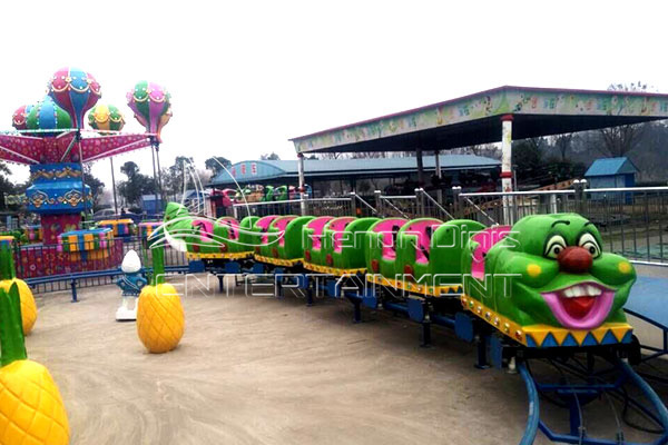 Amusement Portable Worm Roller Coaster Rides for Children
