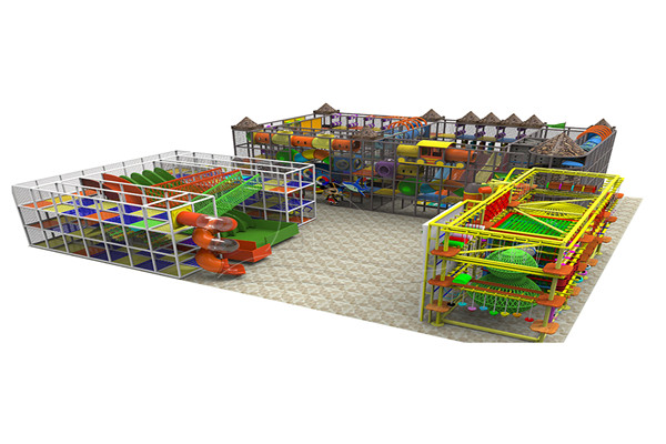 Indoor Playground Family Fun Rides for Kids Play Center Manufactured by Dinis