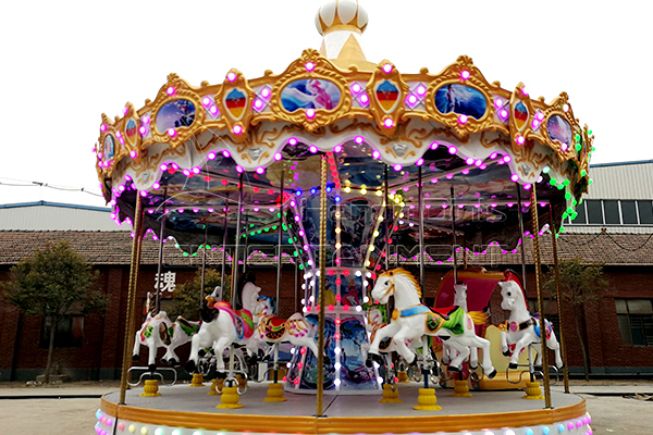 Beautiful Carousel Vintage Rides in Amusement Parks for Both Kids and Adults