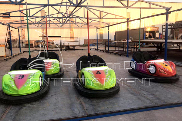 Ceiling Net Electric Dodgem Car Rides for General Parks and Family Fun Centers Manufactured by Dinis Plant