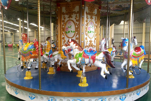 Children's Amusement Park Carousel Ride for Outdoor Playground Equipment