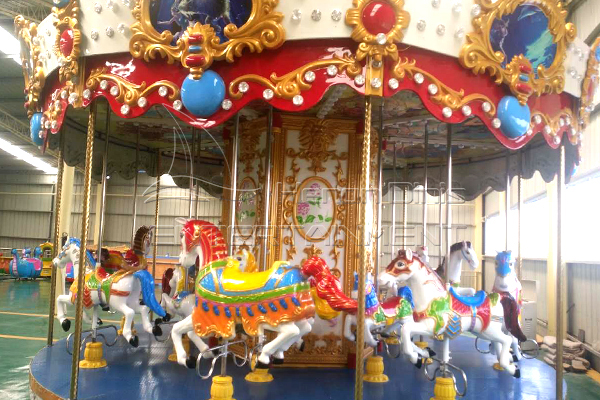 Coin Operated Kiddie Ride Carousel Merry Go Round Rides for Parks, Squares and Small Stores to Make Profits!