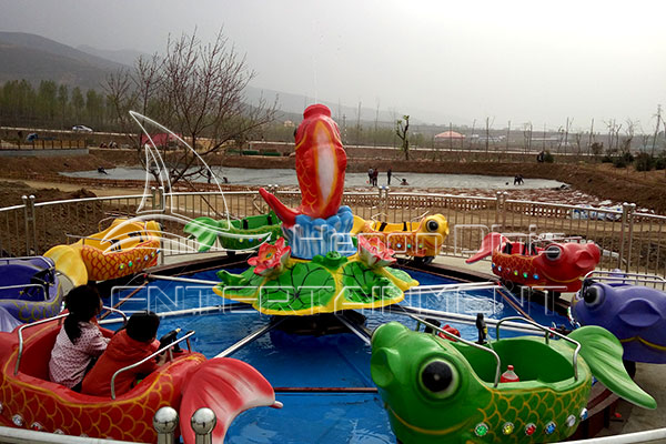 Components of Small Carnival Amusement Carp Jumping Rides Made by Dinis