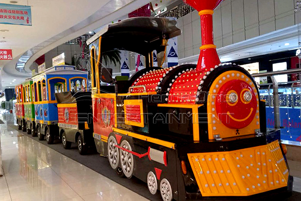 Machine Test of Dotta Train and Sightseeing Train Rides for Sale Produced by Dinis Factory