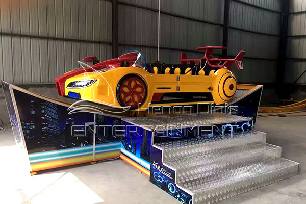 Exciting Family Amusement Ride Bimodal Track Flying Smart Car with High Speed for Sale in Dinis