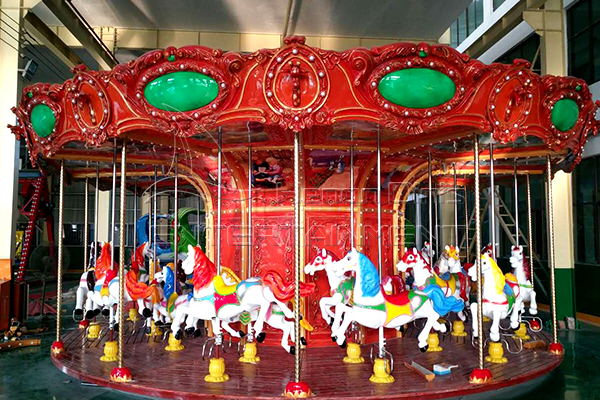 Fairground Merry Go Round Horse Carousel Amusement Ride for Sale Sold in Dinis