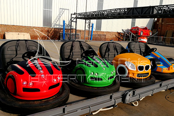 Floor Powered Fairground Bumper Cars for Sale that Only Requires Conductive Floor for Outdoor Venue