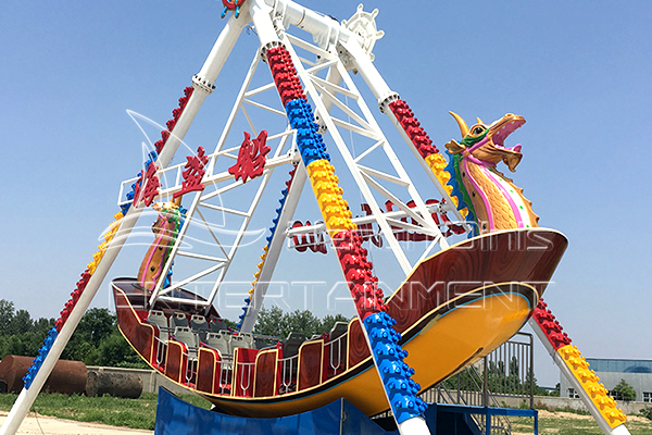 Giant Pendulum Clock Dragon Pirate Ship Rides for Theme Parks