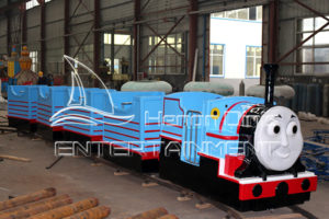 Giant Thomas Track Train Rides for A Shopping Center in Dinis Warehouse