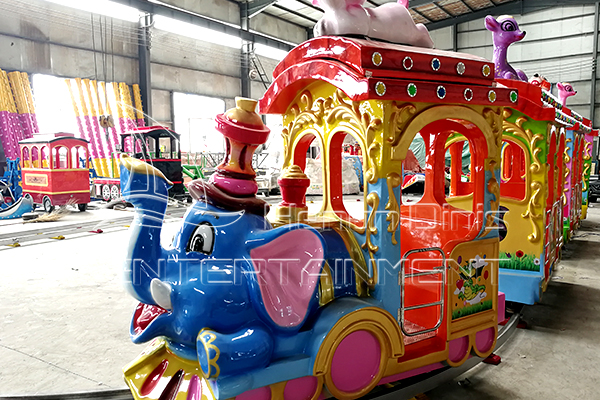 Cute Animal Elephant Track Party Train Rides for Sale in Parks and Squares