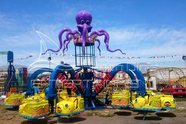 Hot Sale Thrilling Park Octopus Rides for Family Displayed in Dinis's Exhibition Hall