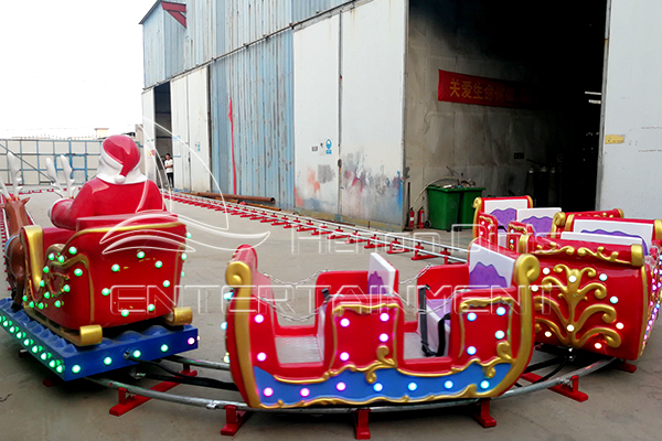 Hot sale Christmas Open Carriage Electric Christmas Train with Track Manufactured in Dinis