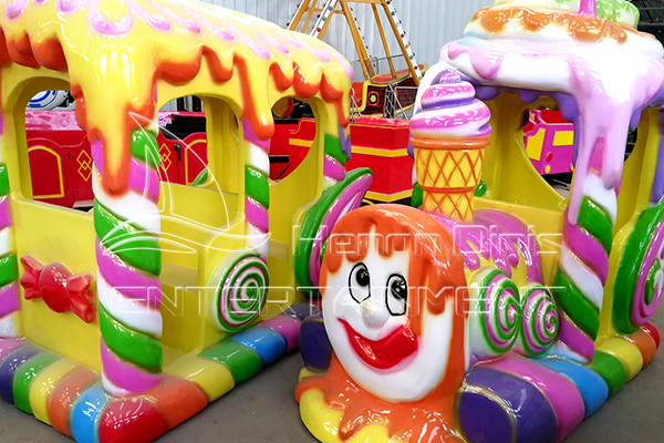 Indoor kids Entertainment Cute Track Train Rides for Children