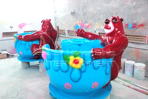 Kids Bear Tea Cup Rides that Could Attract Great Attention in Amusement Parks