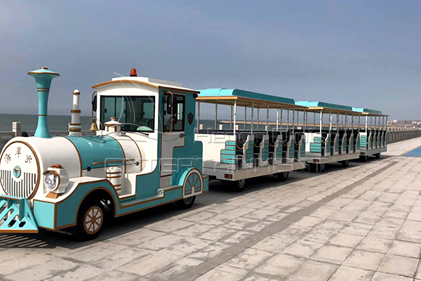 Locomotive Trackless Train Small Rides with Vintage Appearance for Resorts and Squares