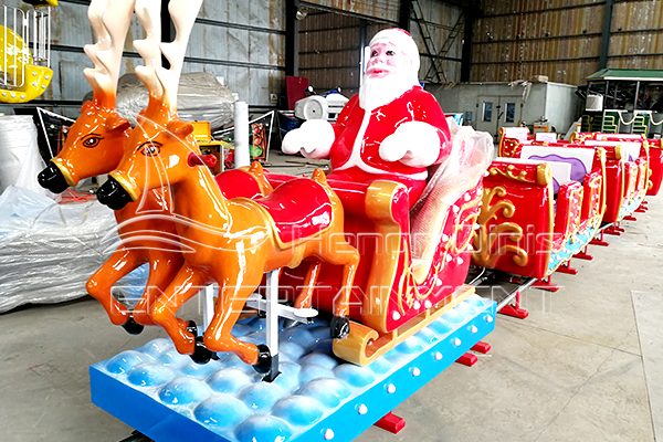 Mini Christmas Track Train Kiddie Rides for Sale during Festivals Manufactured by Dinis Plant