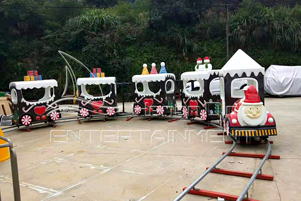 Machine Test of Children's Mini Electric Train Amusement Rides with Tracks for Sale in Dinis