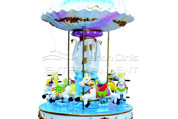 Mini Vintage Musical Carousel for Shopping Malls, Stores and Family Fun Centers