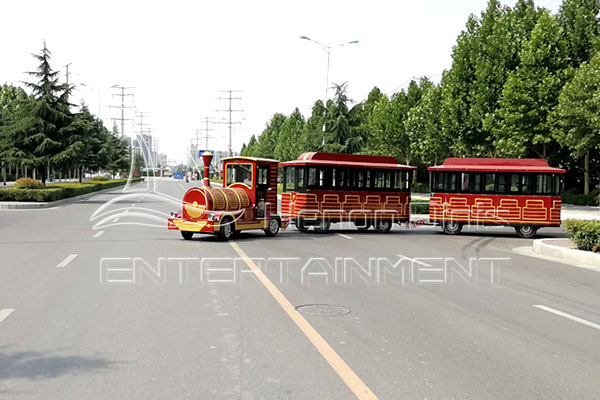 Mobile Kids Fairground Trackless Train Rides for Sale in Streets