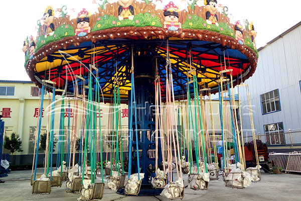 Outdoor Spinning Swing Carousel Ride