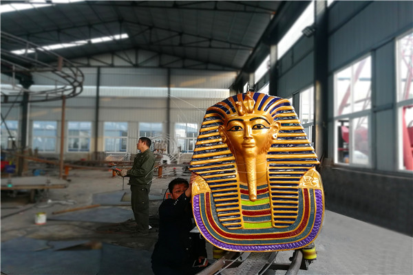 Pharaoh Roller Coaster Carnival Amusement Rides with Customized Design Manufactured by Dinis
