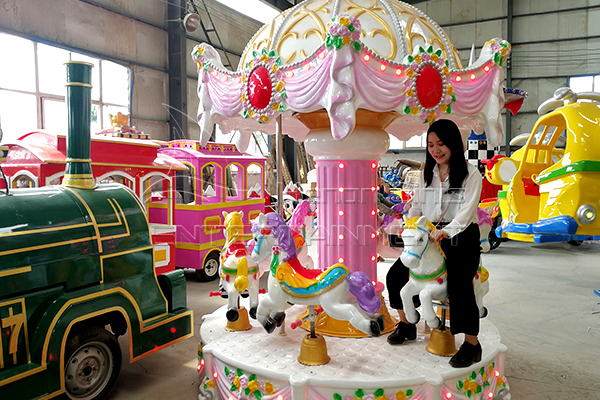 Portable 6-seat Carnival Carousel Ride for Sale for kids Available in Dinis