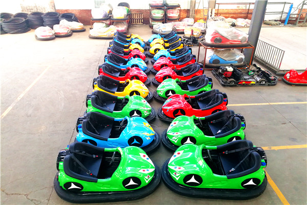 Portable Kiddie Battery Operated Bumper Cars for Sale Displayed in Dinis Plant