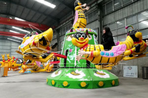 Cheap Amusement Self-control Bee Rides for Kids Displayed in Dinis's Exhibition Hall