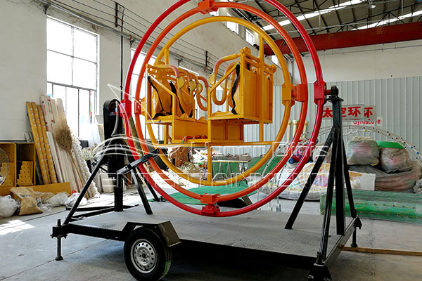 Simple Amusement Human Gyroscope with Trailer for Sale in Dinis