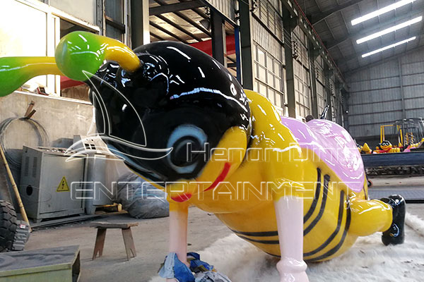 Small Carnival Self-control Bee Rides for Children that Bring Great Profits