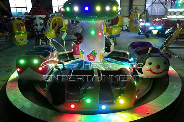 Small Ladybug Paradise Fairground Rides for Sale in Shopping Malls and Entertainment Center