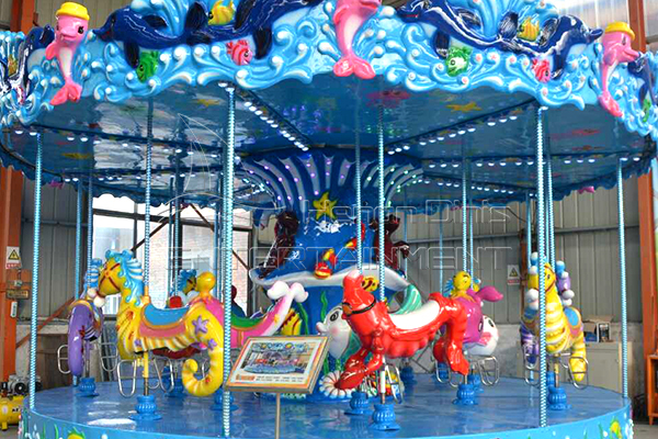 Small Ocean Carousel Rides Hot Sale for Children in Shopping Malls, Supermarkets, Recreation Centers and Stores