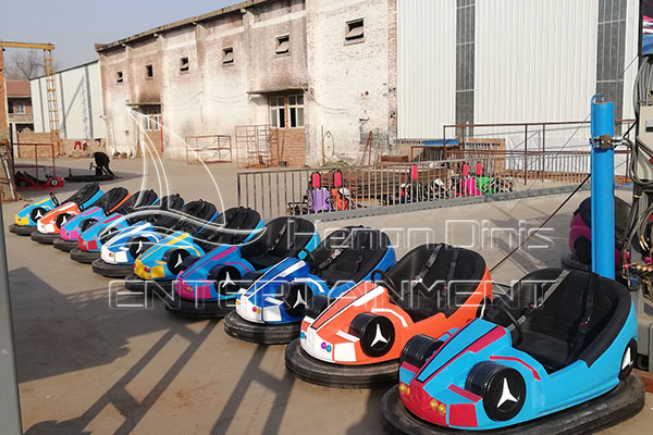 New Type Steel Bumper Battery Operated Dodgem Cars for Sale Manufactured by Dinis Plant